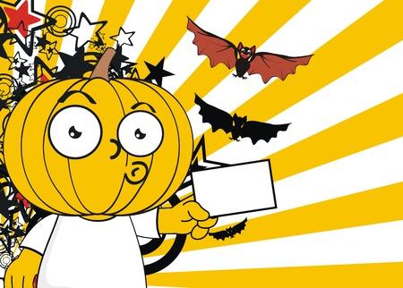hallooween: pumpkin kid cartoon hallooween background.