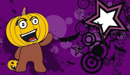 pumpkin child cartoon hallooween background in vector format Vector