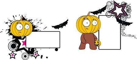 pumpkin cartoon halloween copyspace in vector format Vector
