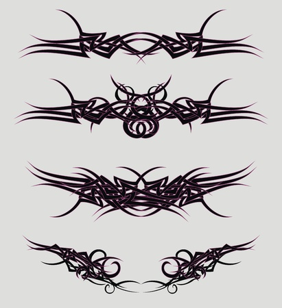 tribal tattoos set in vector format