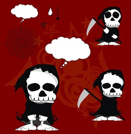 funny dead cartoon set in vector format 矢量图像
