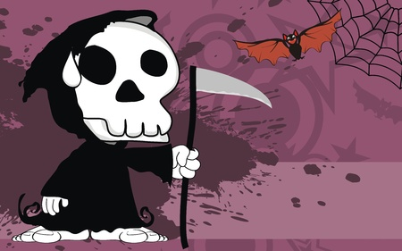 funny dead cartoon background in vector format Vector