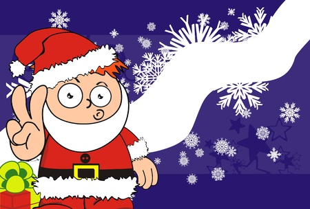 Claus Christmas kid cartoon background  일러스트