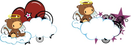 bull kid cartoon angel in vector format Vector
