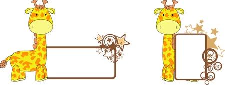 Girafe de bande dessinée en peluche Banque d'images - 12349703