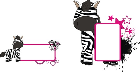 zebra plush cartoon  Vector