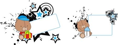 copysapce: teddy bear baby cartoon copyspace  in vector format