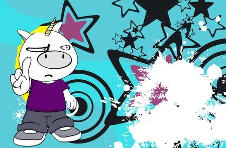 unicorn kid cartoon background in vector format Vector