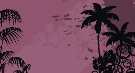 tropical hibiscus flowers background Vector
