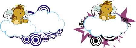 porcupine: porcupine angel cartoon cloud copyspace Illustration