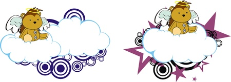 porcupine angel cartoon cloud copyspace Stock Vector - 13779486