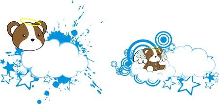hamster angel cartoon cloud copyspace