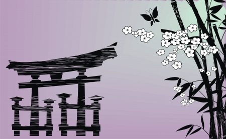 background japanese in vector format Stock Vector - 13814412