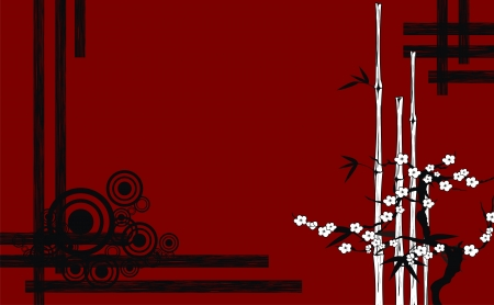 asian art: background japanese in vector format