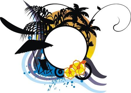 hawaiian sticker copyspace in vector format Vector