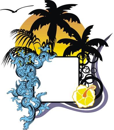 hawaiian sticker copyspace in vector format Stock Vector - 14134161