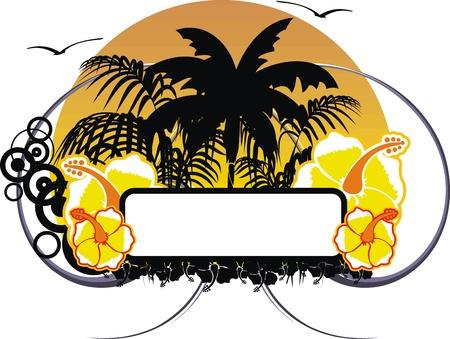 hawaiian sticker copyspace Иллюстрация