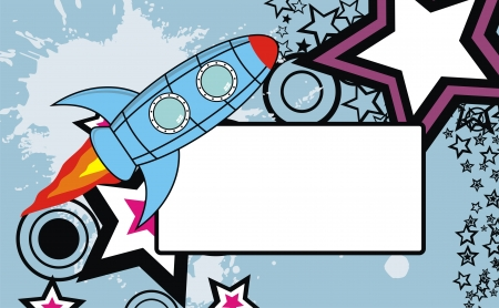 spaceship background copysapace in format Ilustrace