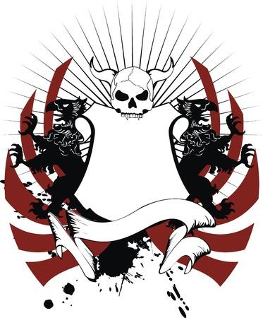 tattoo design: heraldic coat of arms in vector format