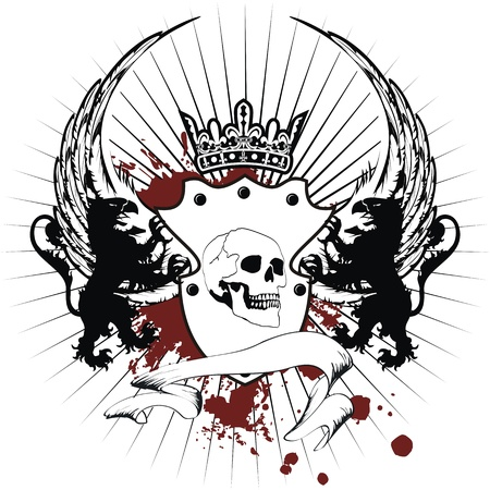 heraldic coat of arms in format Illustration
