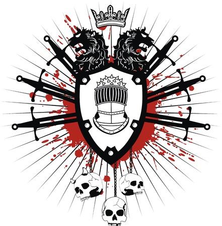 heraldic coat of arms in format 일러스트