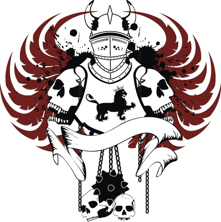 tattoo design: heraldic coat of arms in  format Illustration