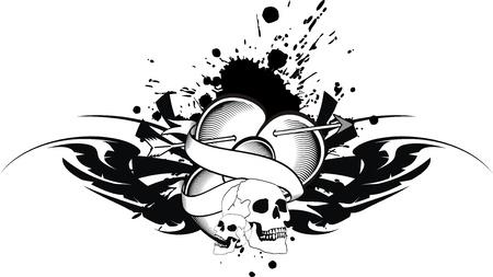 heraldic heart tattoo