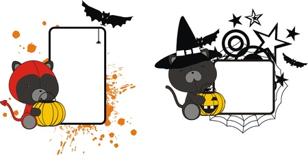 black cat halloween copyspace in format very easy to edit Vector