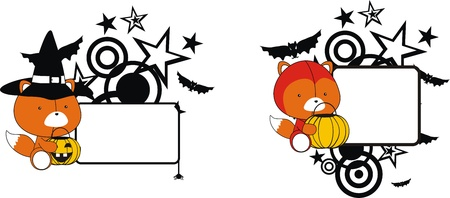 fox halloween copyspace in format very easy to edit Vector