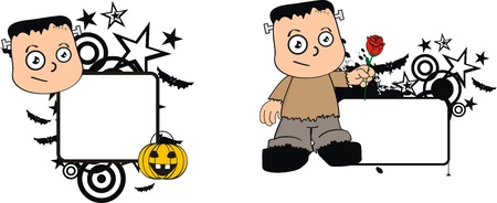 frankenstein kid halloween Stock Vector - 15660456
