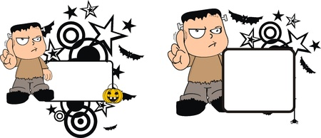 frankenstein kid halloween Vector