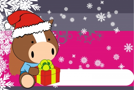 horse baby claus cartoon background in vector format Vector