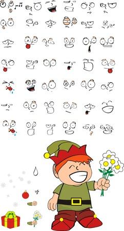 xmas gnomo kid cartoon in vector format Stock Vector - 16784867