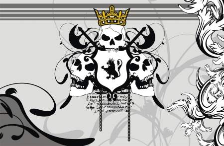 heraldic coat of arms background in vector format very easy to edit Vector