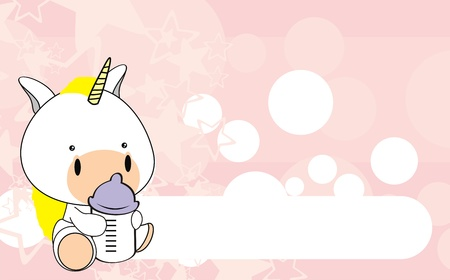 unicorn baby cartoon  Vector