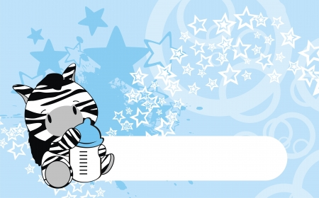 zebra baby cartoon  Vector