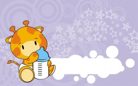 giraffe baby cartoon  Illustration