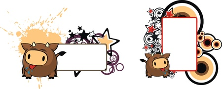 bull ball cartoon copyspace in vector format very easy toi edit Stock Vector - 17766813