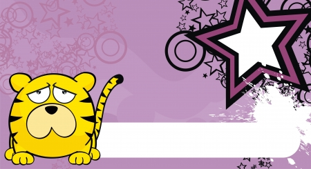 tiger ball cartoon background in  format very easy to edit Vectores