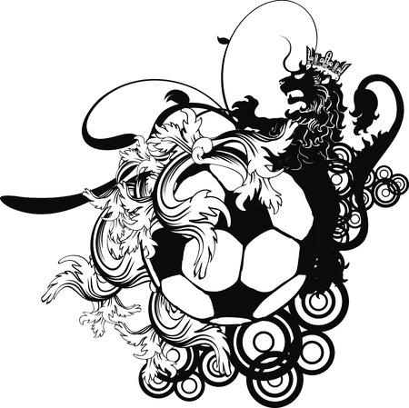 heraldic soccer coat of arms crest in vector format Illusztráció