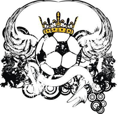 heraldic soccer coat of arms crest Vector