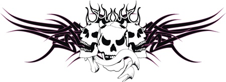 skull tribal tattoo  Stock Vector - 19509391