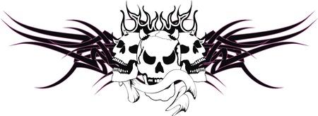 skull tribal tattoo Stock Vector - 19509391