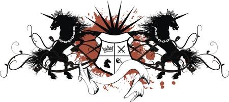 heraldische eenhoorn wapen tattoo