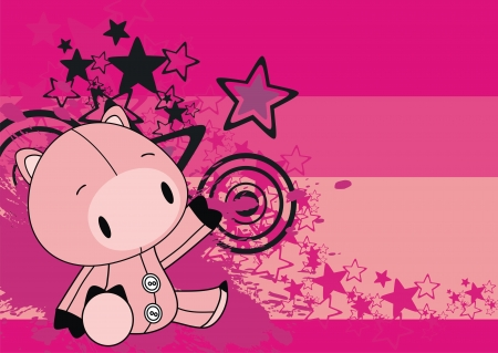 pig baby cute cartoon background