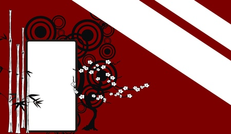 chinese bamboo background in vectro format very easy to edit Vector
