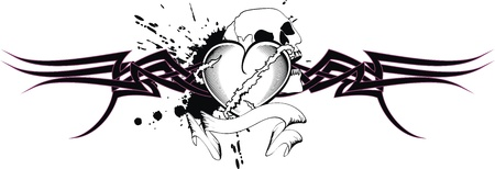 heart: tribal heart tattoo t-shirt