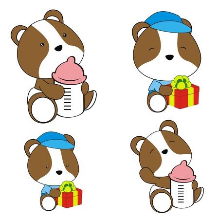 hamster baby diaper cartoon set