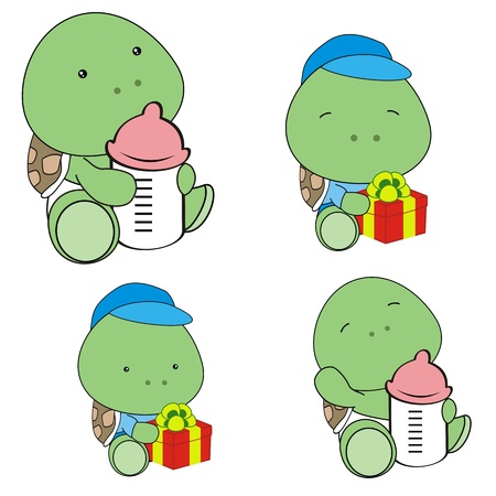 bimbo pannolino: baby turtle pannolino set cartone animato