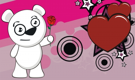 polar bear funny cartoon background in vector format Vector